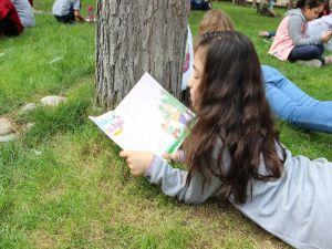 Çimlerin Üzerinde Kitap Okudular