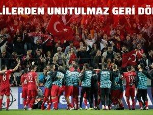 Türkiye'den Efsanevi geri dönüş