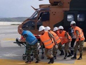 Yaralanan Çocuk için Özel helikopter