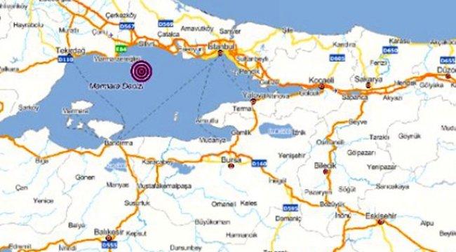 İstanbul'da 3 şiddetinde deprem!