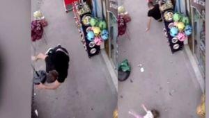 Bebeğiyle bekleyen babaya çarptı ve kaçtı!