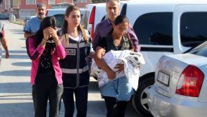 Bebekten bile utanmadı! hırsızlıktan yakalandı