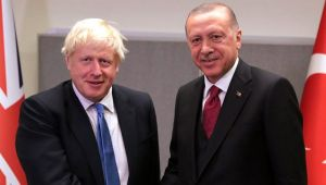 Cumhurbaşkanı Erdoğan ve Başbakan Johnson bir araya geldi