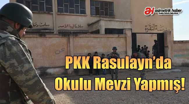 PKK Rasulayn'da Okulu Mevzi Yapmış!