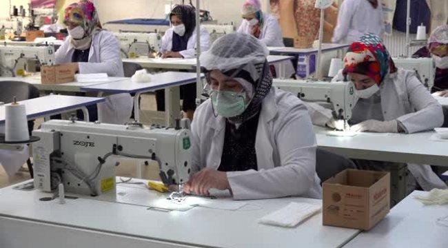 Kurslarda üretilen maskeler ücretsiz dağıtılacak!