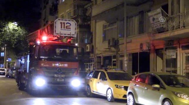 Yıkılma Riski Taşıyan Apartman'da Yangın!