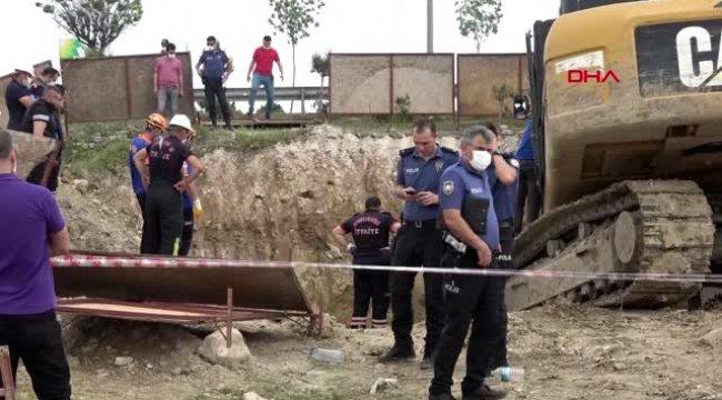 İnşaatta kazı sırasında göçük! 1 Ölü