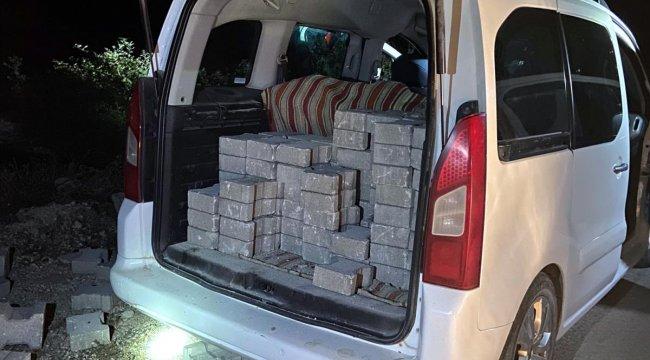Tokat'ta parke taşı çaldıkları iddiasıyla 4 kişi yakalandı