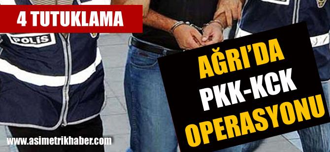 Ağrı'da PKK Operasyonu! Yardım ve Yataklık Eden 4 Kişi Tutuklandı
