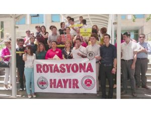 Antalya Adliyesi'nde Rotasyon Eylemi