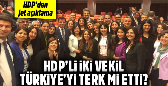 Dokunulmazlık Teklifin Kabulünden Sonra HDP'li Vekiller Firari