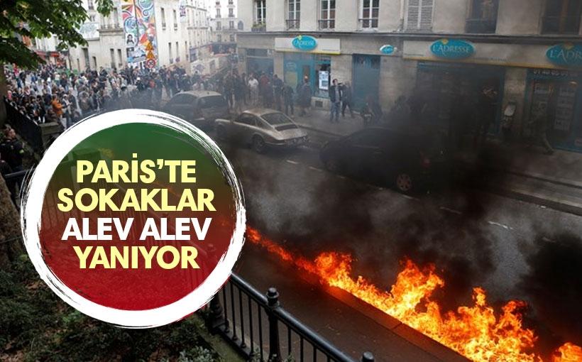 Paris'te Yeni İş Yasası Halkı Sokağa Döktü