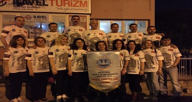 Bergama Halk oyunları ekibi Saraybosna'yı salladı