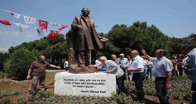 Nazım Hikmet Ran ölümünün 54. yıl dönümünde, Karşıyaka'da etkinliklerle anıldı