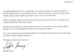 İstanbul Chp Milletvekili Şafak Pavey İstifa Etti